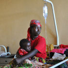 Mother and child in Burundi hospital