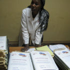 A scientist at the Centre for Vaccine Development in Bamako, Mali.