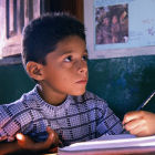 A child at school in Brazil