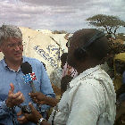 A media interview